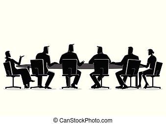 gyűlés, birtoklás, ügy emberek