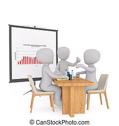 gyűlés, csoport, businessmen, 3
