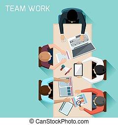 gyűlés, munkás, ötletvihar, hivatal