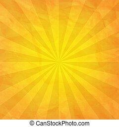 gyűrött újság, rövid napsütés, sárga