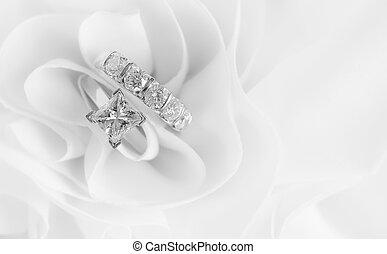 gyűrű, gyémánt, esküvő