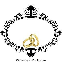 gyűrű, határ, esküvő