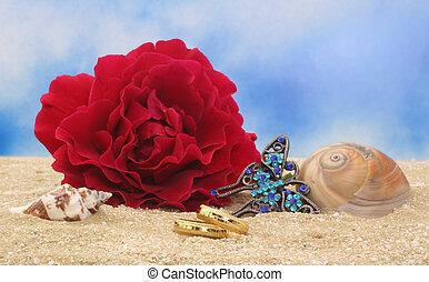gyűrű, tengerpart esküvő