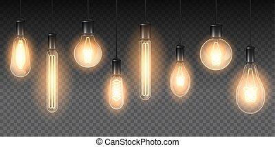 gyakorlatias, állhatatos, fénylő, lámpa