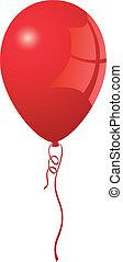gyakorlatias, balloon, vektor, piros