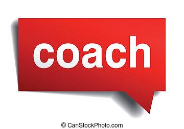 gyakorlatias, dolgozat, buborék, edző, elszigetelt, piros, beszéd, 3, fehér