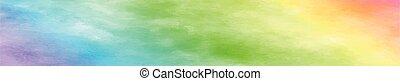 gyakorlatias, körképszerű, struktúra, vízfestmény, white háttér, szivárvány