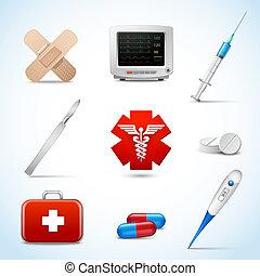 gyakorlatias, orvosi icons