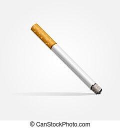gyakorlatias, white háttér, cigaretta, árnyék