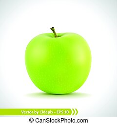 gyakorlatias, zöld alma, ábra