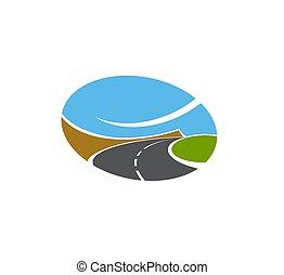 gyalogjáró, vektor, vagy, elszigetelt, út, autóút, icon.