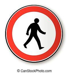 gyalogló, ember, forgalom, út cégtábla