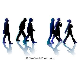 gyalogló, emberek