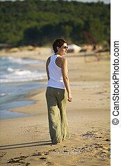gyalogló, tengerpart