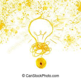gyapjú, fogalom, gondolat, ball., újítás