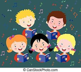 gyerekek, énekkar