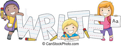 gyerekek, írás