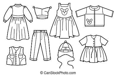 gyerekek, öltözék