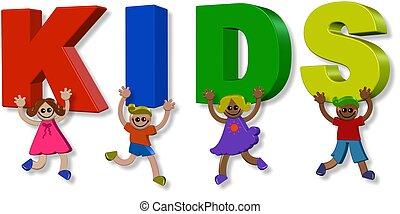 gyerekek, 3, boldog