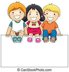 gyerekek, bizottság, tiszta