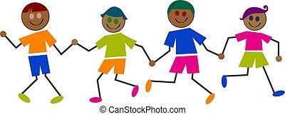gyerekek, etnikai