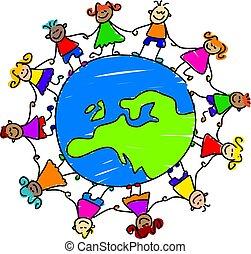 gyerekek, európai
