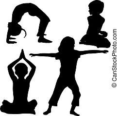 gyerekek, jóga