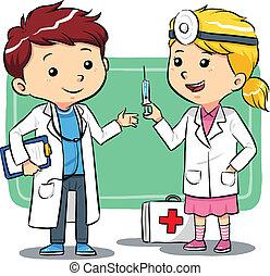 gyerekek, orvos