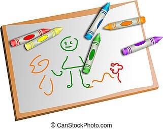 gyerekek, rajz