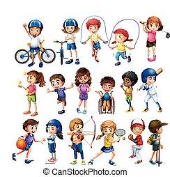 gyerekek, sport