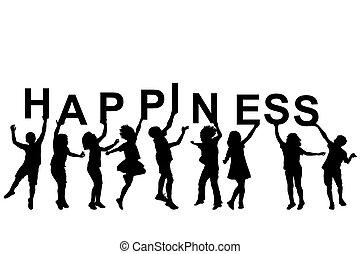 gyerekek, szó, körvonal, birtok, irodalomtudomány, boldogság