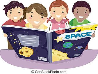 gyerekek, tanulás, csillagászat