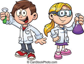 gyerekek, tudomány