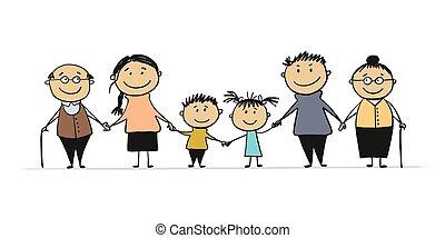 gyerekek, vidám család, nagy