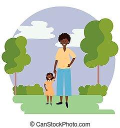 gyermek, nő, kerek, ikon, terhes