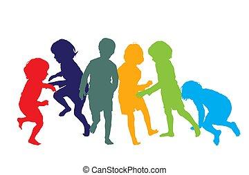gyermekek játék, 1, körvonal
