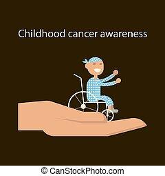 gyermekkor, rák, nap