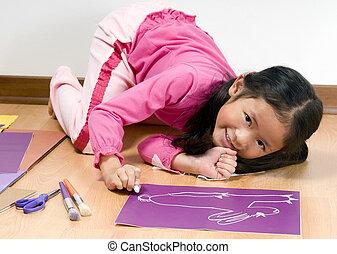 gyermekkor, rajz