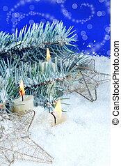 gyertya, karácsony, háttér