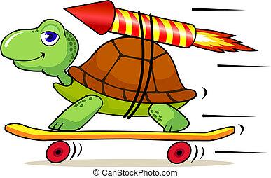gyors, tengeri teknős