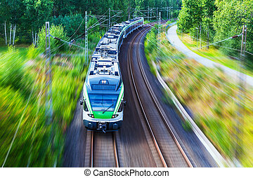 gyors vonat, modern