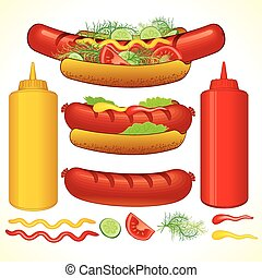 gyorsan, hot dog