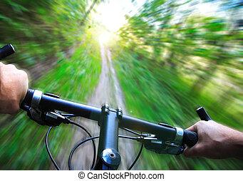 gyorsaság, hegy bicikli