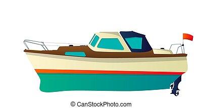 gyorsaság, vektor, jacht, csónakázik