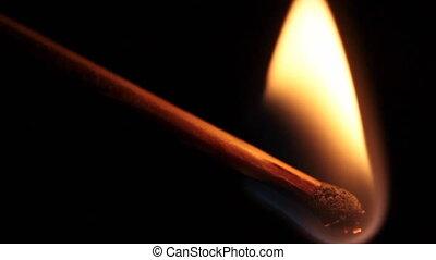 gyufaszál, égető