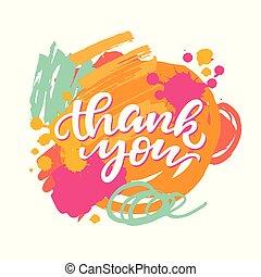 hálát ad, elvont, ecset, háttér, ön, kártya