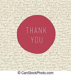 hálát ad, szüret, köszönés, vektor, ön, card.