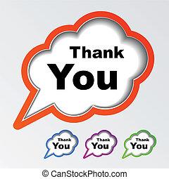 hálát ad, vektor, beszéd, panama, ön, felhő
