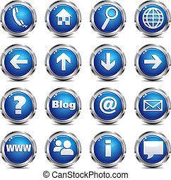 háló, állhatatos, &, -, házhely, egy, internet icon