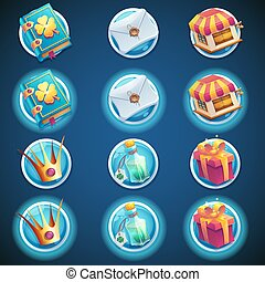 háló, állhatatos, ikonok, gombol, video játék